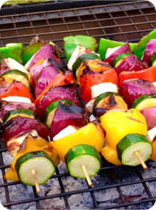Halloumi Cheese Kebabs - bbq catering across Dorset, Wiltshire & Somerset