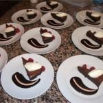 Dark Chocolate nemesis with creme fraiche