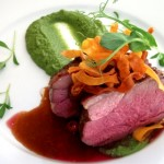Lamb Chump with a Mint & Pea Puree