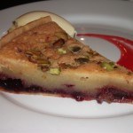 Cherry & Almond bakewell tart, clotted cream