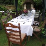 Outdoor Dinner Party in Devizes