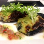 portobello mushrooms with rarebit & real ale chutney