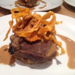 Low & slow cooked feather blade of beef, potato rosti, wild mushrooms peppercorn sauce