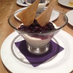 Buttermilk pannacotta with blueberry compote & tuille biscuits