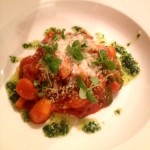 Parmesan Gnocci with tomato fondue