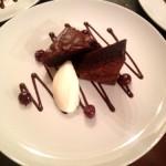 Warm Dark Chocolate Brownie