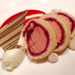 Strawberry & morello cherry arctic roll, muscovado meringues, vanilla & mascarpone cream!
