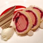 Strawberry & morello cherry arctic roll, muscovado meringues, vanilla & mascarpone cream!