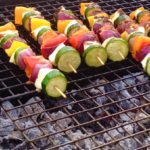 Vegetable & Halloumi Cheese Kebabs