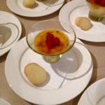 Raspberry & vanilla Creme brûlée with shortbread biscuits