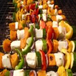 Halloumi & vegetable skewers