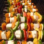 Halloumi & vegetable skewers