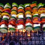 Barbecue Halloumi & summer vegetable kebabs