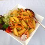 Crunchy Carrot, cumin & orange salad