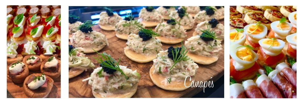 canapes - part of our event catering services in Gillingham, Dorset, Wiltshire & Somerset