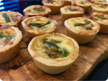 Blue Cheese & Asparagus Tartlet