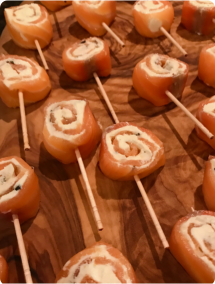Salmon Roulade Canapes
